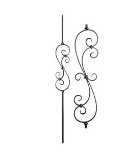 "HF16.1.25-S: Versatile Series 1/2"" Solid Square Iron Small Scroll Baluster"