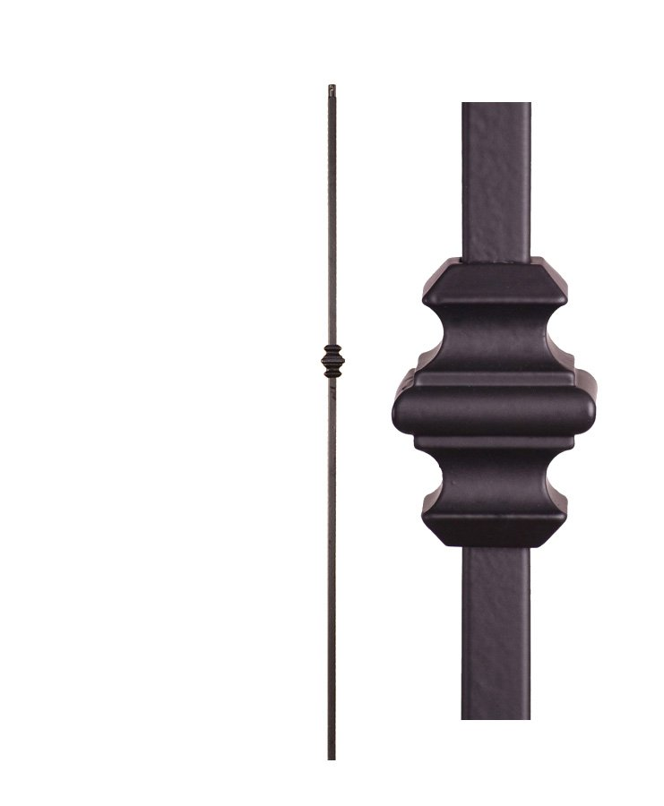 "HF16.1.34: Versatile Series 1/2"" Solid Square Iron Knuckle Baluster"