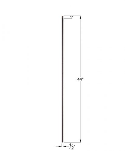 """HF16.2.1-T: 1/2"""" Hollow Square Iron Baluster Dimensions"""