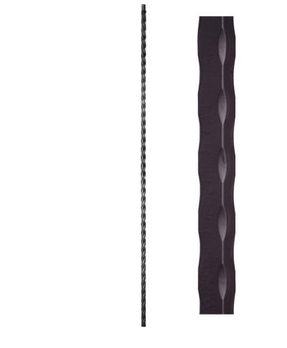 """HFSTB16.3.8: Santa Fe 9/16"""" Solid Square Edge Hammered Iron Baluster"""
