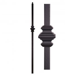 "HF16.5.9: Versatile Series 1 3/16"" Solid Square Iron Knuckle Newel"