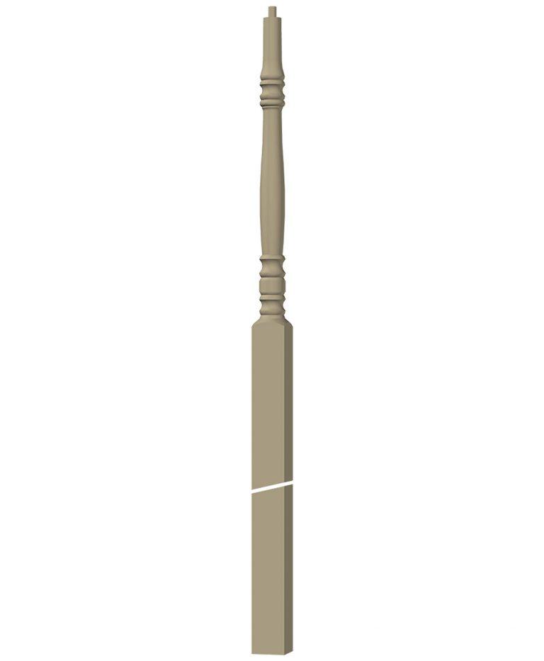"LJ-3278: 3"" Winder Newel 3D CAD Rendering"