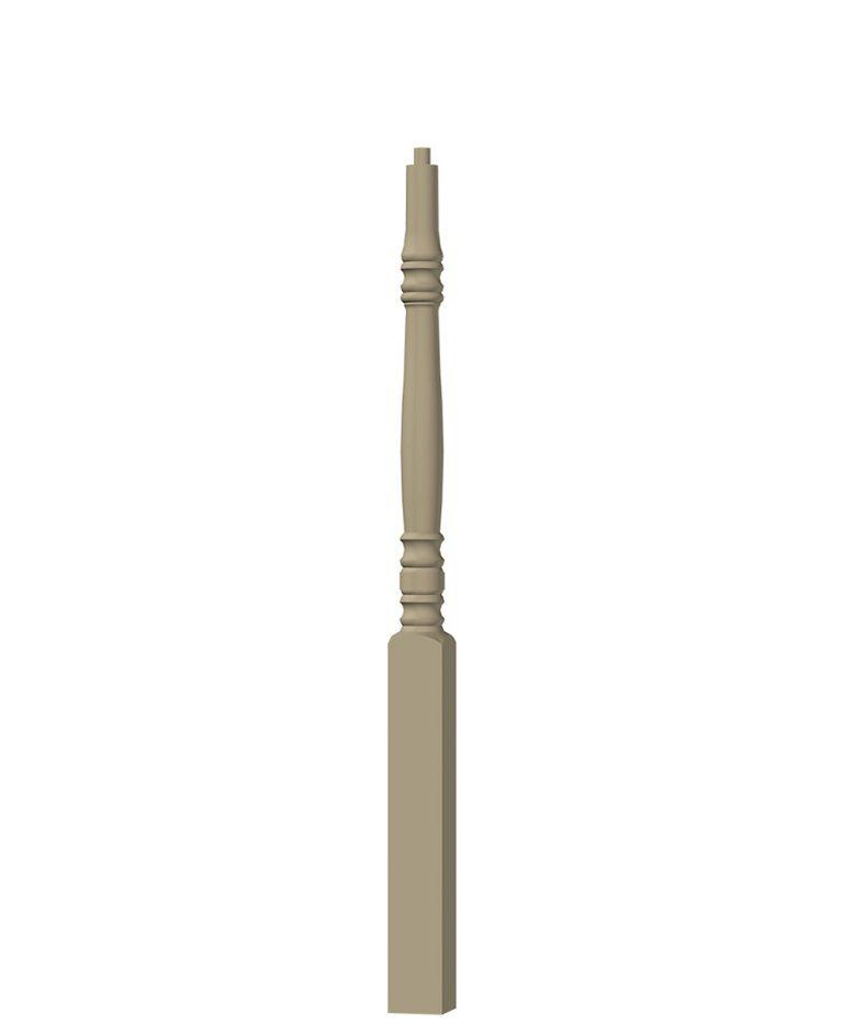 "LJ-4274: 3 1/4"" Universal Newel Post 3D CAD Rendering"