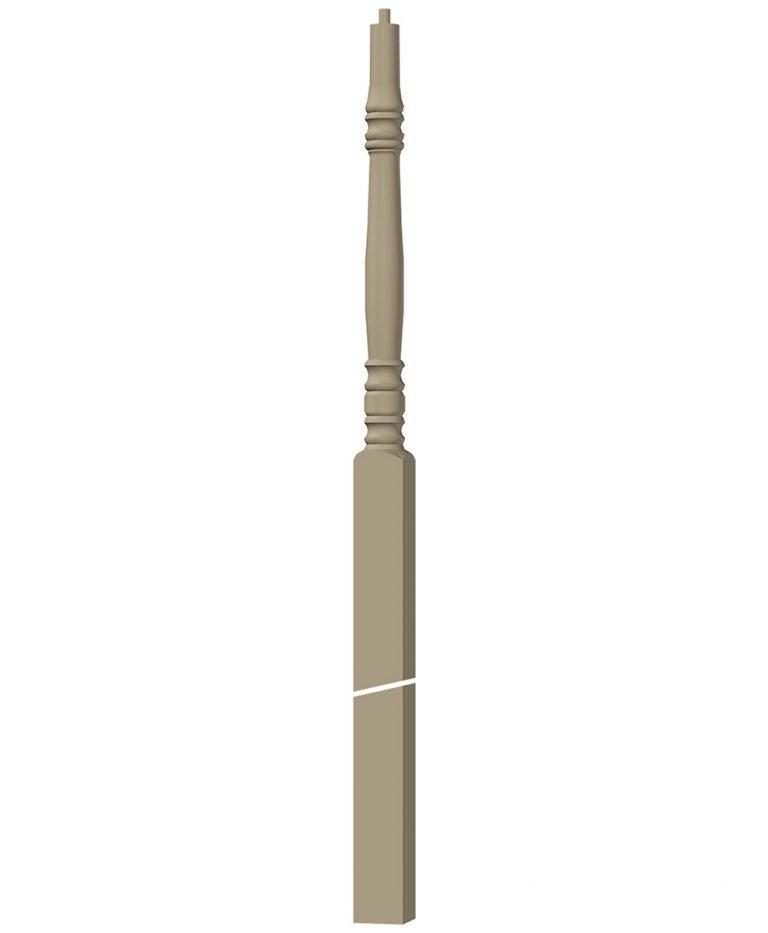 "LJ-4278: 3 1/4"" Winder Newel Post 3D CAD Rendering"