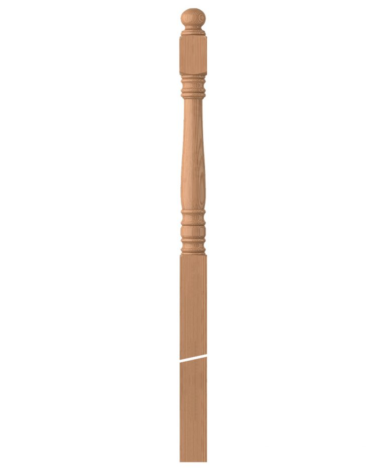 "LJ-4558: 3 1/2"" Winder Newel Post"