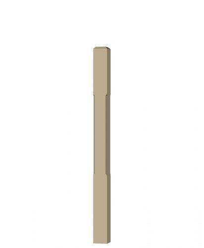 "LJC-4000: 3 1/2"" Chamfered Universal Newel Post (3D CAD Rendering)"