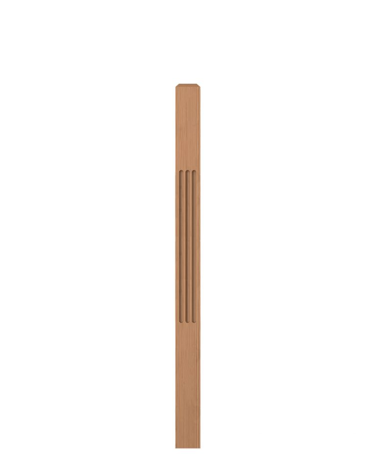 "LJF-4000: 3 1/2"" Fluted Universal Newel Post"