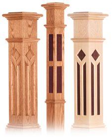 Decorative Inlay Box Newels