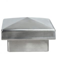 LJ-9018: Pyramid Metal Newel Cap