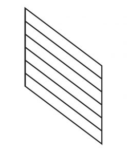 Linear Kneewall Stairway Panels for 36in Rail Height