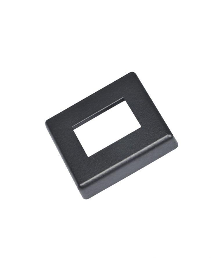 "LI-ALSQPL2: Aluminum Flat Rake Angle / Pitch Shoe for 1/2"" Hollow Square Rake Angle Balusters"