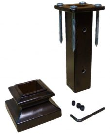 LI-NWLFSH: Mounting Kit for Square Iron Newel