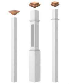Mixed Specie Box Newel Posts