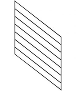 Linear Open Tread Stair Panels for 36in Rail Height