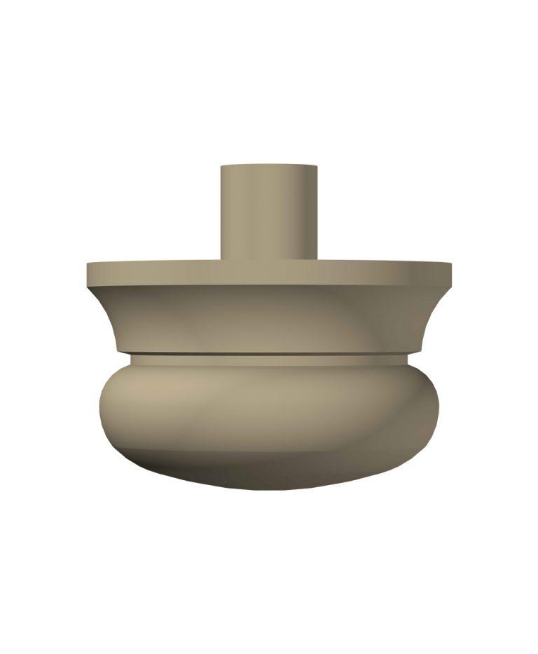 """LJ-4099A: 3"""" Newel Drop (3D CAD Rendering)"""
