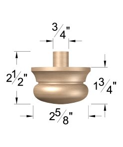 """LJ-4099A: 3"""" Newel Drop Dimensions"""