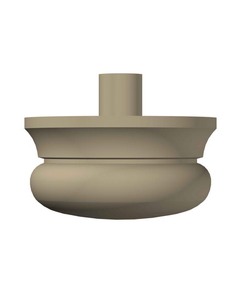 """LJ-4299A: 3 1/2"""" Newel Drop (3D CAD Rendering)"""