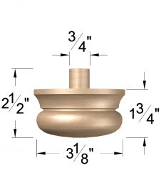 "LJ-4299A: 3 1/2"" Newel Drop Dimensions"