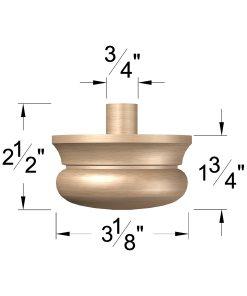 """LJ-4299A: 3 1/2"""" Newel Drop Dimensions"""