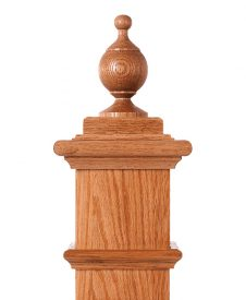 LJ-9002: Box Newel Post Chablis Finial