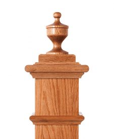 LJ-9004: Box Newel Post Champagne Finial