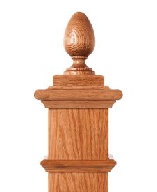 LJ-9005: Box Newel Post Teardrop Finial