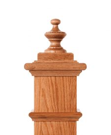 LJ-9006: Box Newel Post Alladin Finial