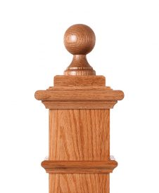 LJ-9007: Box Newel Post Ball Top Finial