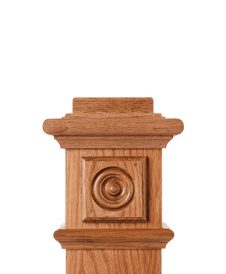 LJ-9100: Box Newel Post Square Rosette Block