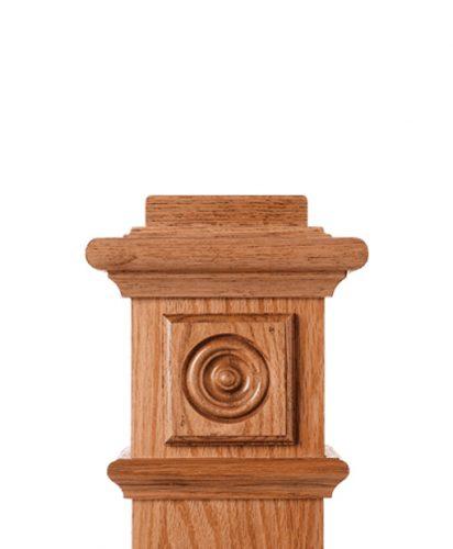 LJ-9100: Box Newel Post Square Rosette Block