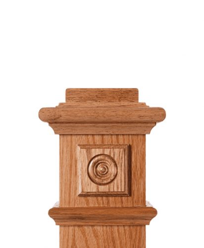 LJ-9101: Box Newel Post Square Rosette Block