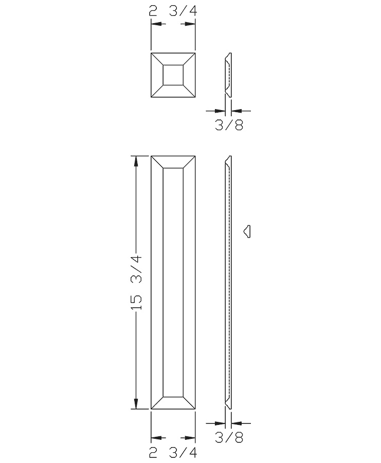 LJ-9203: Box Newel Post Small Picture Frame Kit  - CAD Drawing