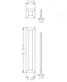 LJ-9204: Box Newel Post Large Picture Frame Kit  - CAD Drawing