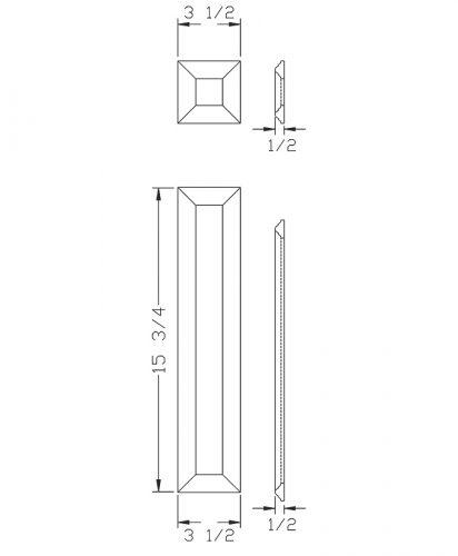 LJ-9204: Box Newel Post Large Picture Frame Kit  - CAD Drawing