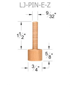 LJ-PIN E-Z Wood Baluster Dowel Pin Dimensions