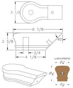 LJ-7019: Conect-A-Kit Opening Cap for LJ-6010 Handrail CAD Drawing