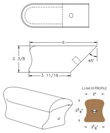 LJ-7A09: Conect-A-Kit Returned End for LJ-6A10 Handrail CAD Drawing