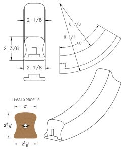 LJ-7A12SB: Conect-A-Kit 60° Upeasing for LJ-6A10 Handrail CAD Drawing