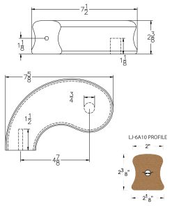 """LJ-7A40SB: Conect-A-Kit 5"""" Left Hand Turnout for LJ-6A10 Handrail CAD Drawing"""