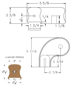 """LJ-7A41P1: Conect-A-Kit 3"""" Left Hand Turnout for LJ-6A10P1 - 1 3/4"""" Plowed Handrail CAD Drawing"""