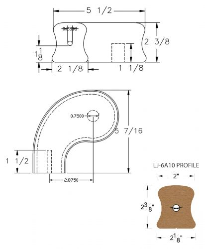 """LJ-7A41SB: Conect-A-Kit 3"""" Left Hand Turnout for LJ-6A10 Handrail CAD Drawing"""
