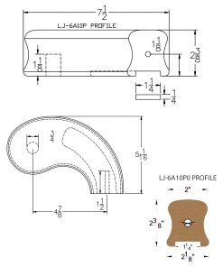 """LJ-7A45P0: Conect-A-Kit 5"""" Right Hand Turnout for LJ-6A10P0 - 1 1/4"""" Plowed Handrail CAD Drawing"""