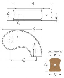 """LJ-7A45SB: Conect-A-Kit 5"""" Right Hand Turnout for LJ-6A10 Handrail CAD Drawing"""