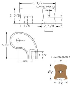 "LJ-7A46P0: Conect-A-Kit 3"" Right Hand Turnout for LJ-6A10P0 - 1 1/4"" Plowed Handrail CAD Drawing"