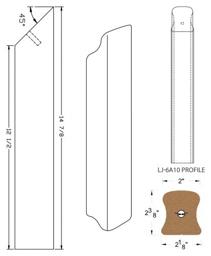 LJ-7ARD: Conect-A-Kit Rail Drop for LJ-6A10 Handrail CAD Drawing