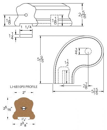 "LJ-7B41P0: Conect-A-Kit 3"" Left Hand Turnout for LJ-6B10P0 - 1 1/4"" Plowed Handrail CAD Drawing"
