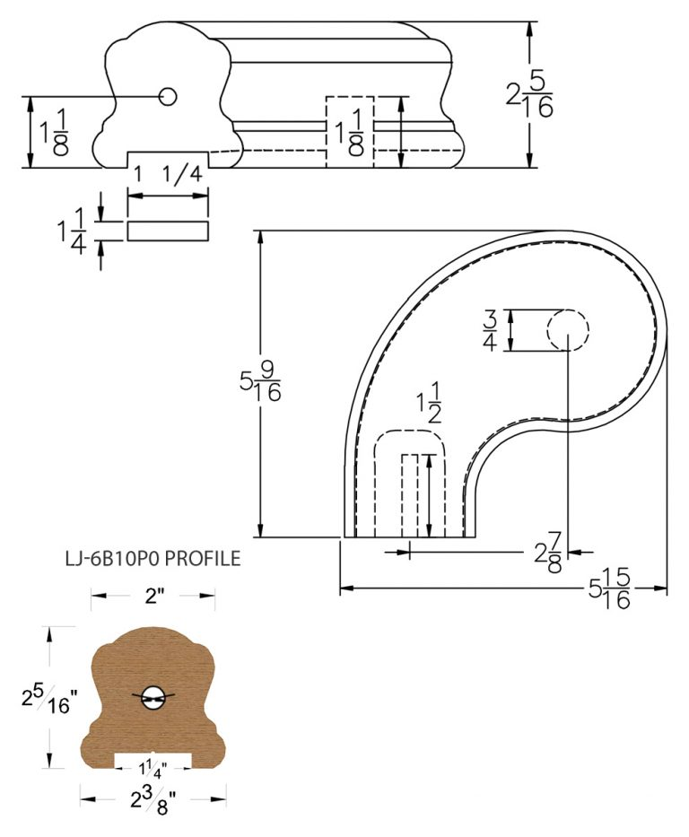 """LJ-7B41P0: Conect-A-Kit 3"""" Left Hand Turnout for LJ-6B10P0 - 1 1/4"""" Plowed Handrail CAD Drawing"""