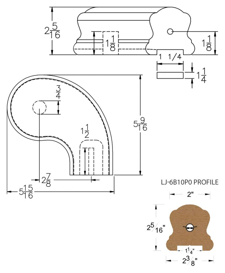 """LJ-7B46P0: Conect-A-Kit 3"""" Right Hand Turnout for LJ-6B10P0 - 1 1/4"""" Plowed Handrail CAD Drawing"""