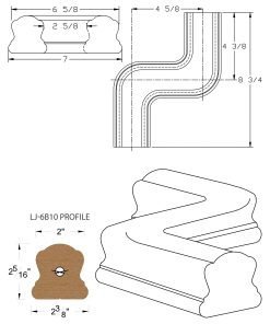LJ-7B47: Conect-A-Kit Left Hand S Fitting / Offset for LJ-6B10 Handrail CAD Drawing