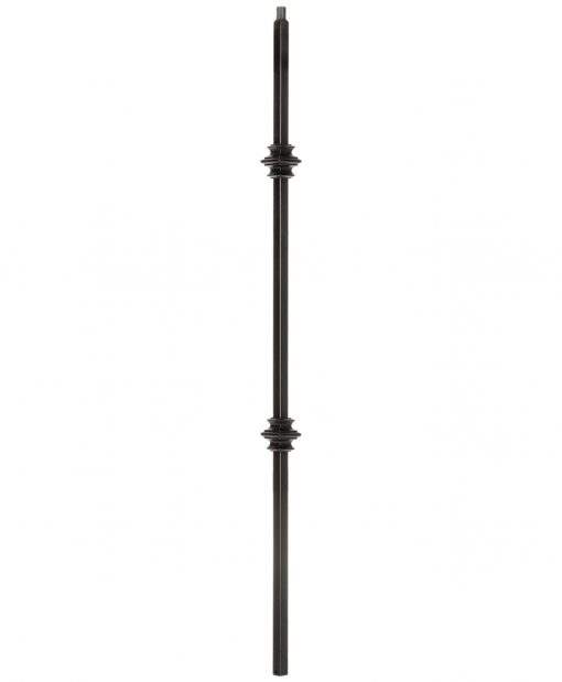 "HF34.1.35-T: Mega 3/4"" Hollow Square 18 Gauge Aluminum Double Knuckle Baluster"